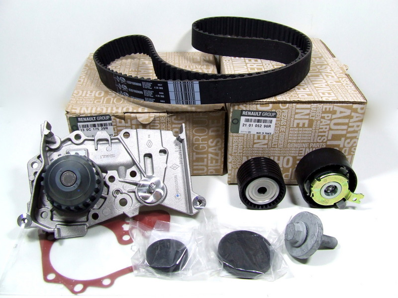Timing belt kit with water pump for engine Renault,Dacia 1 4 / 1 6 16V
